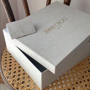 Jimmy Choo London shoe box & instructions care 🎁